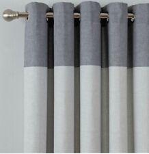 "Argos Home Printed Header 117 x 137cm Unlined Eyelet Curtain - Dove Grey 46x54"""