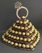 Y109 XL Love Heart Ferrero Rocher Chocolate Wedding Sweet Candy Cart Stand Tree