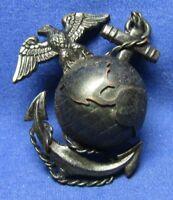 WWII USMC Officer EGA Hat Badge by H&H Imperial