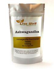 Ashwagandha Root Extract 1000mg 500 Tablets UK Made-Help with Stress -Vegan