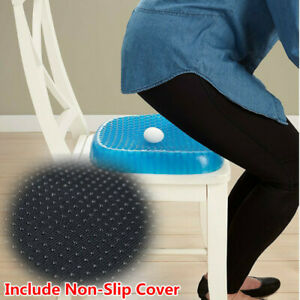 Egg Sitter Gel Flex Seat Cushion Back Support Pain Relief Breathable Honeycomb