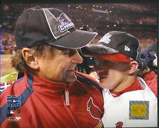 Tony LaRussa David Eckstein World Series St. Louis Cardinals 8x10 With Toploader