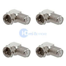 4x F Type Right Angle 90 Degree Connector Adapter Plug Coaxial HD RG59 RG6