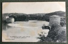 CPA. VILLENEUVE sur LOT. 47 - L'Ecluse et le Moulin de Madame.