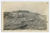 RPPC 1914 Tornado Damage WILKES BARRE PA Luzerne County Real Photo Postcard 5
