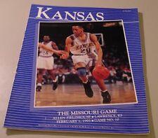 KU Jayhawk Basketball Program - Missouri Feb 1, 1993