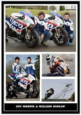 146. Guy Martin & William Dunlop TT signé reproduction Imprimé Taille A4