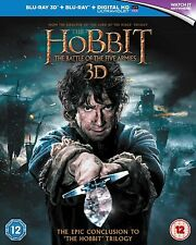 The Hobbit: The Battle of the Five Armies [Blu-ray 3D + Blu-ray] New & Sealed