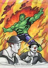 Marvel Masterpieces 2016 Sketch Card - BUKSHOT - INCREDIBLE HULK