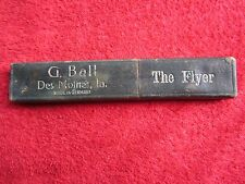 G. BALL DES MOINES IOWA THE FLYER STRAIGHT RAZOR EMPTY BOX ONLY #3