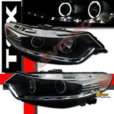 Black G3 Super Bright Halo LED Bar Projector Headlights For 2009-2011 Acura TSX