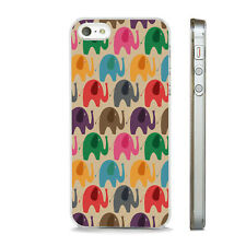 Funda De Teléfono Brillante Elefante Retro de impresión se ajusta APPLE IPHONE 4 5 6 7 8 X XS SE PLUS