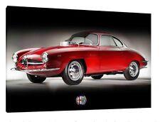 1964 ALFA ROMEO GIULIA SPRINT SPECIALE 1600 - 30x20 pollici Canvas-foto incorniciata