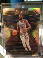 2019-20 Panini Select ANDRE DRUMMOND Silver Scope Concourse Prizm Pistons