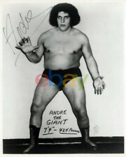 Andre the Giant vintage autograph signed 8 x 10 photograph wwe wwf wrestling rp