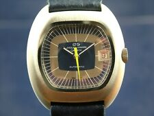 Jaquet Girard Geneve Automatic Swiss Watch 1970s Retro New Old Stock NOS Vintage