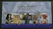 2000 New Zealand Queen Mother 100 Years Miniature Stamp Sheet MS Mint NH