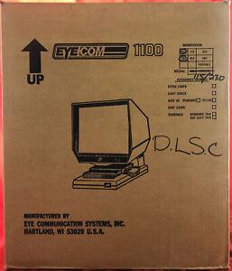 EYECOM 1100 - Vintage Microfiche Microslide Reader Viewer -NEW IN BOX-Ultra Rare