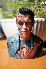 Terminator T800 Battle Damage version Arnold bust statue Color Painted 12cm H