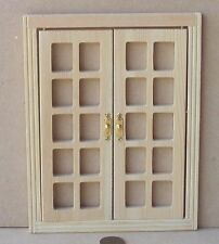 1:12 Scale Basic Classic Wooden French Doors Tumdee Dolls House Accessory 500