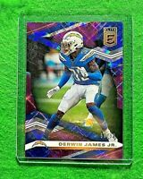 DERWIN JAMES PRIZM PURPLE BLUE SP#/99 LOS ANGELES CHARGERS 2020 DONRUSS ELITE SP
