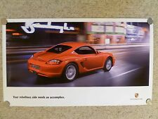 "2006 Porsche Cayman ""Rebellious Side"" Showroom Advertising Sales Poster RARE!!"