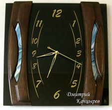 Black square wall clock original brand glass wood Arabic numerals classy watch