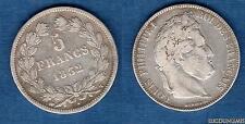 Louis Philippe Ier , 1830 - 1848 5 Francs (2) Tranche Relief Tete Laurée 1832 T