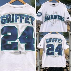 Rare VTG 90s Starter Ken Griffey Jr. Seattle Mariners Air Brush Jersey T Shirt L