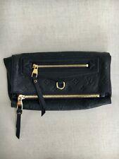 Louis Vuitton Navy Infini Monogram Empreinte Leather Petillante Clutch Bag