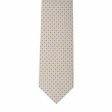 Borrelli Napoli Hand Made 100% Silk Yellow Teardrop Neck Tie New With Tags BT116