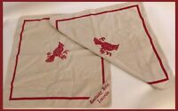 Vintage Kentucky Hotel Louisville Cloth Napkins SET OF 2 - Cotton Napkins (R368)