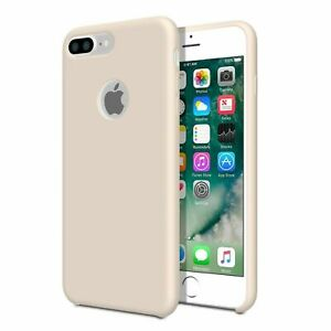For iPhone 7 Plus - Smooth Liquid Silicone Case Pink Sand