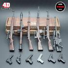 "1/6 Scale 6pcs 4D Rifle Assembly Weapon Model Set Gun Toy Fit 12"" Figure Body"