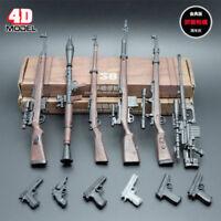 """1/6 Skala 6pcs 4D Gewehr Montage Waffe Modell Set Gun passen 12"""" Figur Körper"""
