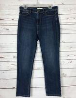 J.Jill Authentic Fit Slim Ankle Denim Blue Jeans Medium Wash ~ Women's Size 10
