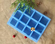 Premium quality silicone soap mould mold 12 square cube cavity DIY soap making