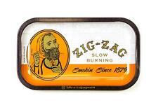 Zig-Zag Metal Rolling Tray - 11 x 7 - Classic Orange, Ships same Day
