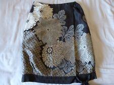 Dries Van Noten COLLECTORS Embroidered Kimono Chrysanthemum SKIRT Small Silk 36
