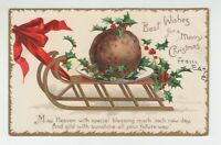 "[67933TXX] OLD POSTCARD ARTIST SIGNED ELLEN H. CLAPSADDLE ""MERRY CHRISTMAS"""
