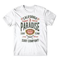 California Summer Surfing Paradise T-Shirt. 100% Cotton Premium Tee New