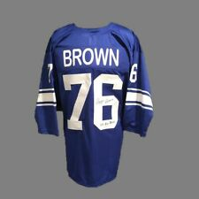 Detroit Lions, Roger Brown signed custom pro style jersey with JSA