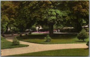 "NEWPORT RI Postcard ""Convent of the Cenacle - NE View of Garden"" Hand-Colored"