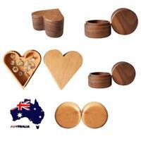 AU Wooden Jewellery Storage Box Rings Necklaces Gifts Storage Case Organizer Box