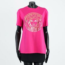 VERSACE 275$ Pink Cotton Crewneck Tshirt With Medusa Print