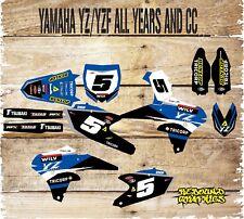Yamaha YZ YZF 85 125 250 450 Kit completo de gráficos-MX-Calcomanías-Pegatinas - wilv