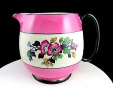 "B.P. BRITANNIA POTTERY CO. SCOTLAND FLORAL & PINK BAND 5 1/2"" PITCHER 1896-1935"
