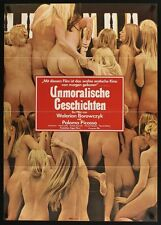 CONTES IMMORAUX IMMORAL TALES German A1 movie poster SEXPLOITATION 1974