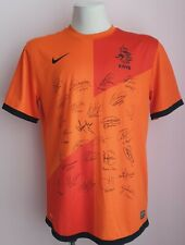Netherlands Home football shirt 2012 - 2014, autographs, size L