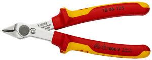 Knipex 78 06 125 VDE Diagonal Super Knips Diagonal Flush Cut Side Cutter Pliers
